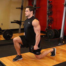 Выпады с гантелями упражнения для ног