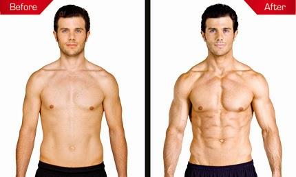 До и после применения протеинов Syntha-6