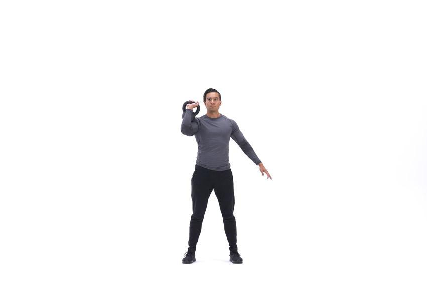 Жим гири одной рукой