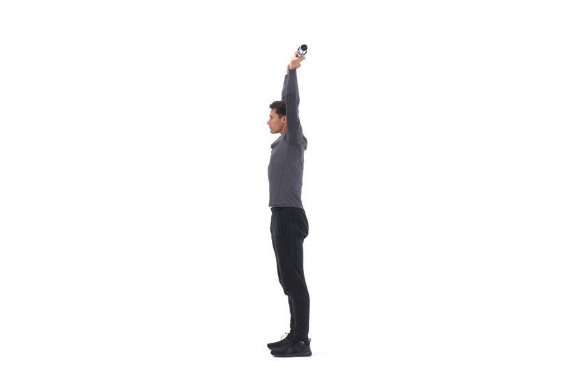 Фронтальный подъем штанги над головой