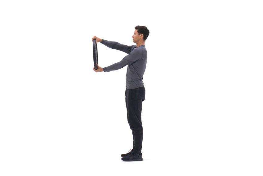 Вращение диска на прямых руках