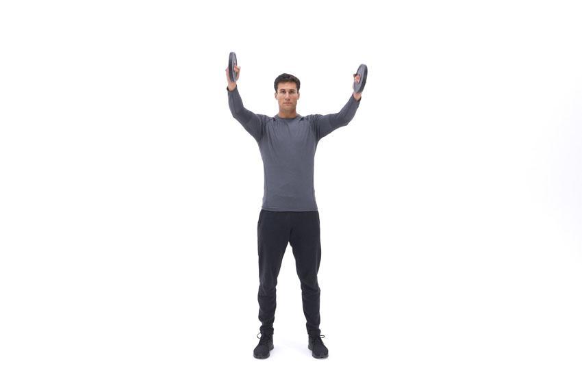 Вращение рук с дисками