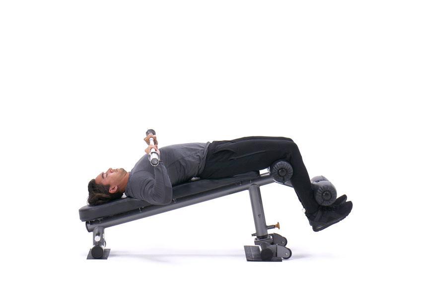 Жим штанги лежа на скамье с отрицательным наклоном