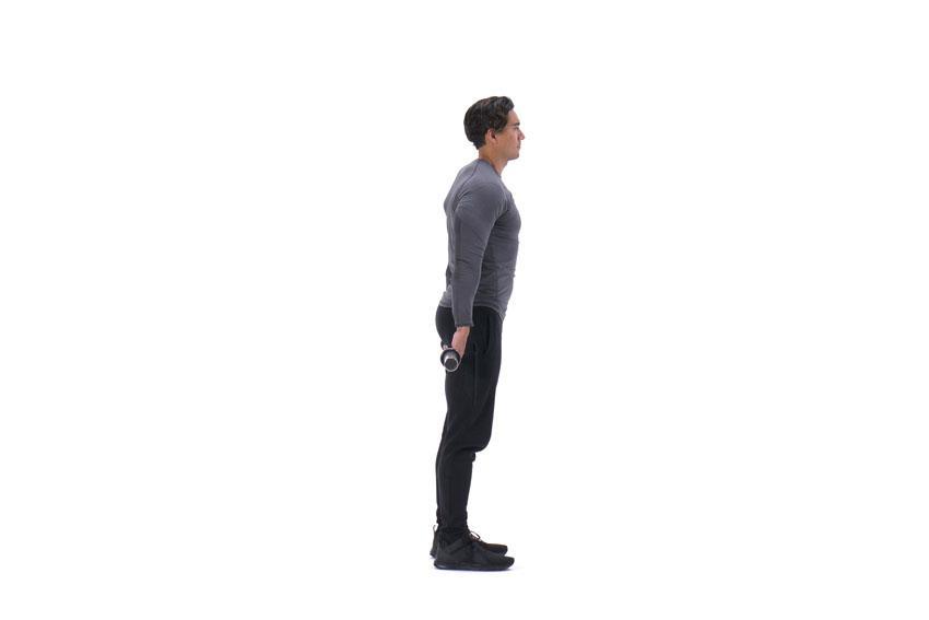 Сгибания запястий со штангой за спиной