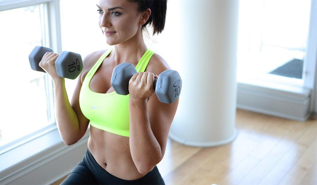 Вес гантелей для женщин