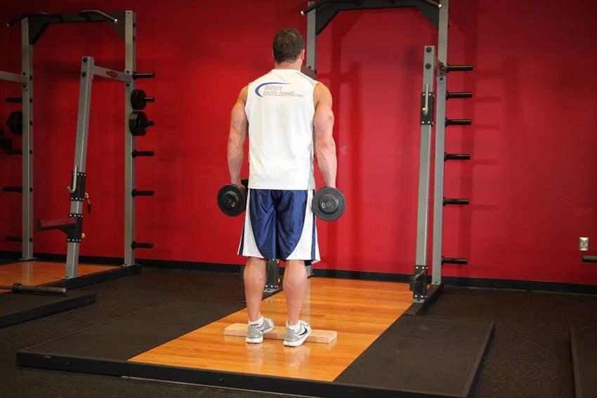 Тренировка ног с гантелями