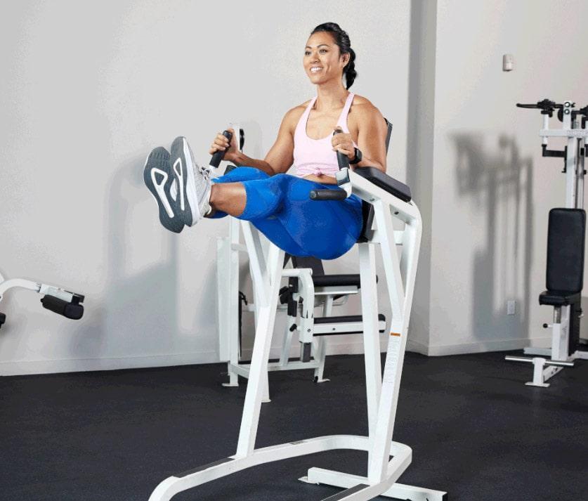подъем ног в упоре упражнение